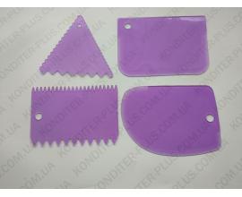 Набор шпателей фиолетовый, 4 шт
