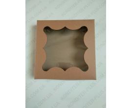 коробка для пряников бурая 15*15*3 см