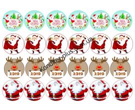 вафельная картинка Новогоднее настроение, d-4,5 см