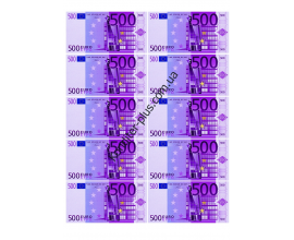 вафельная картинка №2 (500 евро, 9,5*5 см)