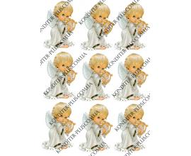 вафельная картинка ангелочки, 8 см