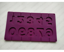 силиконовые цифры на палочке, 5 см