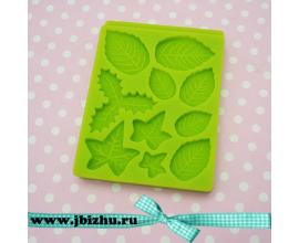 молд листики зеленый