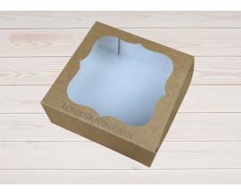 коробка крафт, 15*15*6 см
