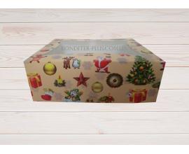 коробка для 6 кексов новогодняя