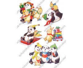 вафельная картинка панда и ее компания