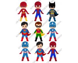 вафельная картинка дети супер герои