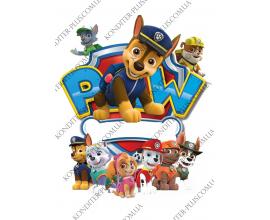 вафельная картинка щенячий патруль №6