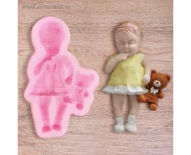 молд девочка с мишкой