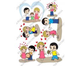 вафельная картинка Любовь №1