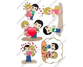 вафельная картинка Любовь №2