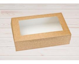 коробка для зефира крафт  23*15*6 см