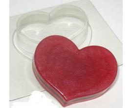 пластиковая форма сердце широкое 7,0*6,0 см