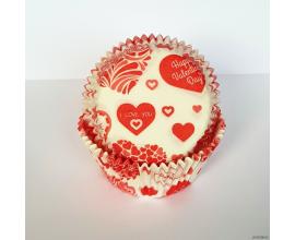 формочки для кексов с днем валентина, 50*30