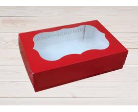 коробка для сладостей 23*15*6 см, красная