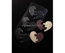 пластиковый молд сердце мини шоколадка