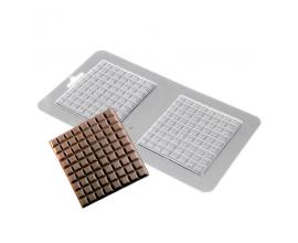 пластиковая форма плитка шоколада, 8*7,5 см