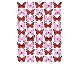 бабочки бардовые, розовые 4 *2,8 см
