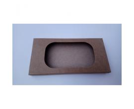 Коробка для плитки шоколада крафт №1, 160*80*15
