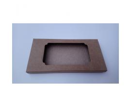 Коробка для плитки шоколада крафт №3, 160*80*15