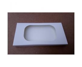 Коробка для плитки шоколада белая № 1, 160*80*15
