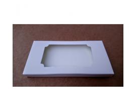 Коробка для плитки шоколада белая №2, 160*80*15