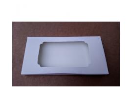 Коробка для плитки шоколада белая №3, 160*80*15