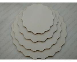 ПОДЛОЖКА белая фигурная  ДВП-СУПЕР, 10 см