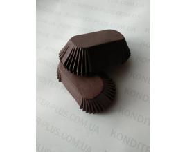 формочки для эклеров коричневые, 100 шт,  дно 8*3.5 см
