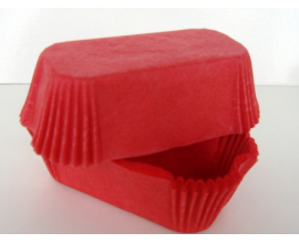 формочки для эклеров красные, 50 шт