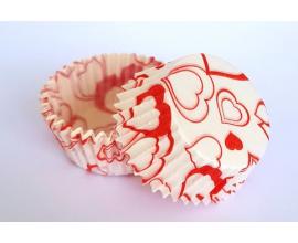 формочки для конфет сердечки, 50 шт, 3*2.5 см