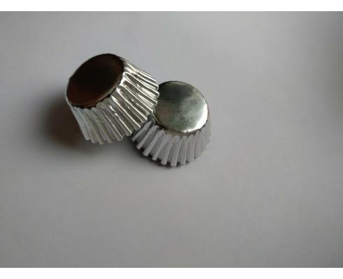 формочки для конфет серебро, 100 шт, 2,7*1,8 см