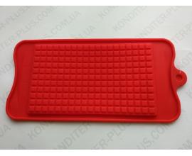 сил.форма плитка шоколада мелкий квадратик, 15,5*9 см