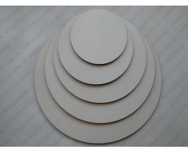 подложка прочная двп, 3 мм, круг  30 см, белая фигурная