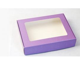 коробка для пряников 192*148*40, фиолетовая