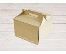 коробка для торта 255*255*185 бурая