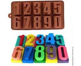 сил.форма цифры, 4,3*2,3 см (на прямоугольнике)