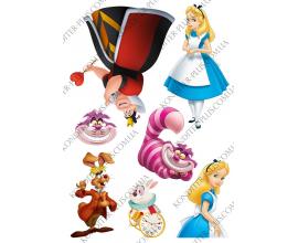 вафельная картинка Алиса в стране чудес
