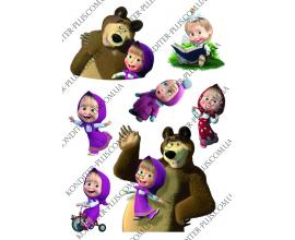 вафельная картинка Маша и медведь №2