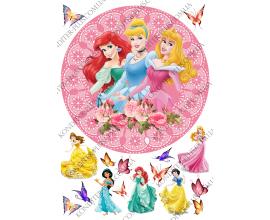 вафельная картинка Три принцессы
