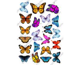 вафельная картинка бабочки 3
