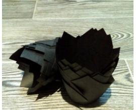 формочка для кексов тюльпан черный, 10 шт