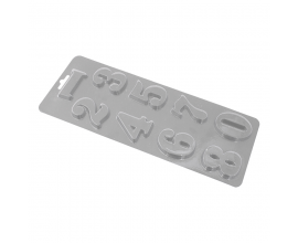 пластиковый молд цифры, 5 см