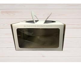 коробка для торта с окном 26*26*15 см