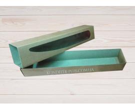 коробка бурая для макаронс, 30*5*5 см