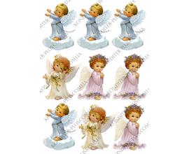 вафельная картинка ангелы 9 см