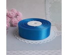 атласная лента темно-голубая, 2 см