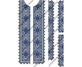 вафельная картинка синяя вышиванка
