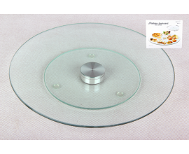 стеклянное блюдо вращающееся, 35 см