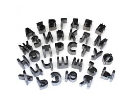 русский алфавит металл, 3.3 см